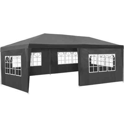 tectake Pavillon »Garten Pavillon 6x3m mit 5 Seitenteilen«