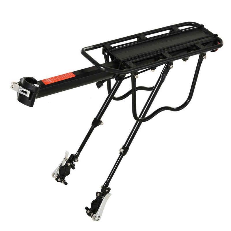 HOMCOM Fahrrad-Gepäckträger »Fahrrad Gepäckträger mit rückwärtigem Reflektor«