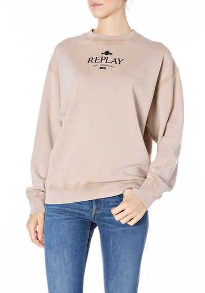 Replay Sweatshirt mit Markenschirftzug