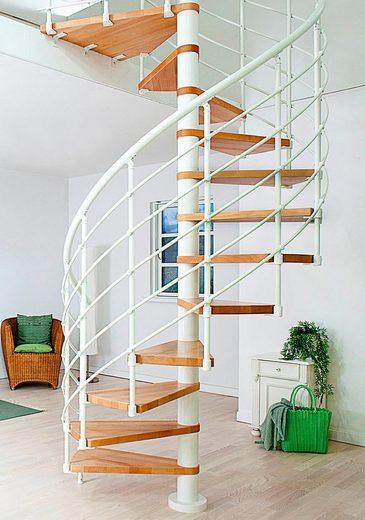 Dolle Spindeltreppe »Oslo«, für Geschosshöhen bis 276 cm, Stufen offen, Ø: 120 cm