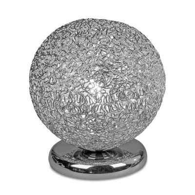 formano Tischleuchte »Lampe Kugel mit Touchfunktion Draht silber«