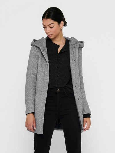 Only Kurzmantel »3776« (1-St) ONLY Damen Eleganter Mantel Leichte Cozy Coat Jacke ONLSEDONA mit Kapuze
