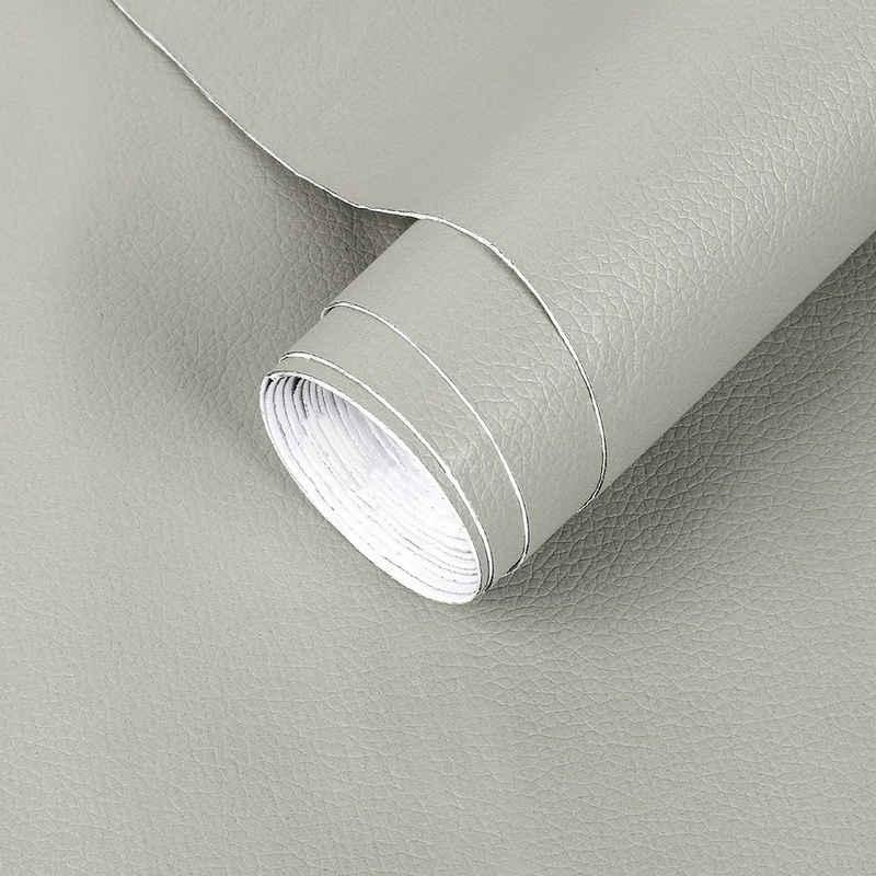 DTC GmbH Vinyltapete »4m x 60cm, Selbstklebend Kunstleder Folie, PVC, für Sofa, Autositz, Möbel, Schrank, Ledertaschen«
