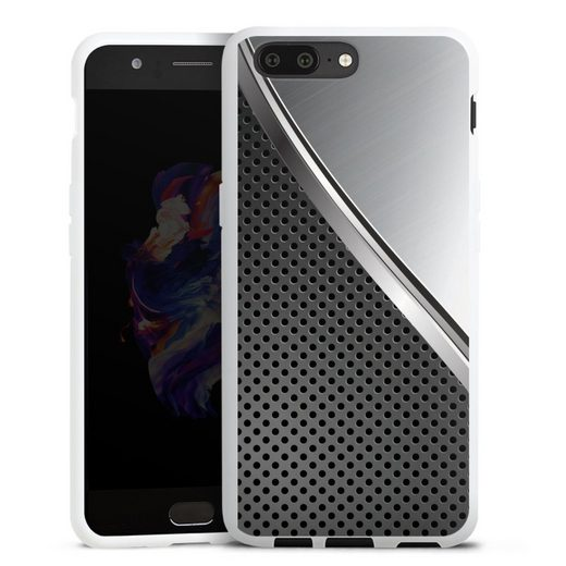 DeinDesign Handyhülle »Duo Metal Surface« OnePlus 5, Hülle Carbon Metall Muster