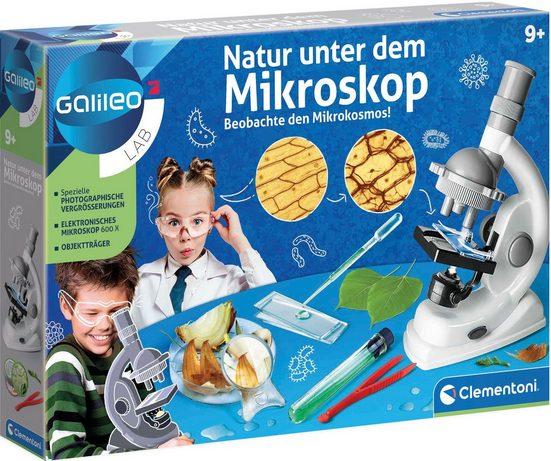 Clementoni® »Galileo Natur unter dem Mikroskop« Kindermikroskop (0x-600x)