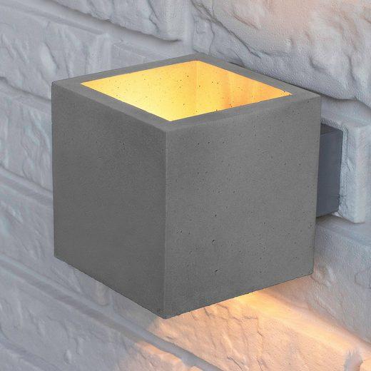 SPOT Light Wandleuchte »BLOCK«  Naturprodukt aus echtem Beton  Handgefertigt  Made in EU