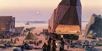 Komar Fototapete »Star Wars Classic RMQ Java Market«, glatt, futuristisch, mehrfarbig, Weltall, (Packung)