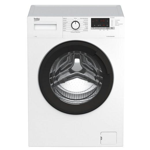 BEKO Waschmaschine WML71434EDR1, 7 kg, 1400 U/min, AddXtra-Nachlegefunktion, Pet Hair Removal, Knitterschutz+, Wasserschutzsystem, Aquawave-Schontrommel