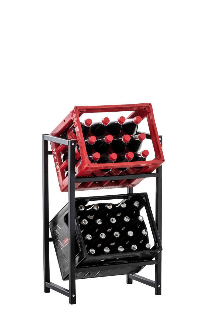 CLP Standregal »Lennert«, Platzsparender robuster Kistenständer für Getränkekisten