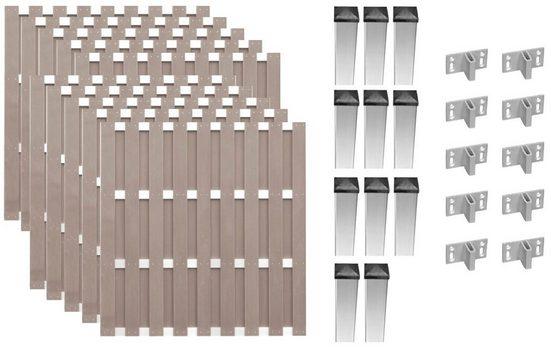 T&J Bohlenzaun »Jersey 8«, (Set), 10 Elemente, LxH: 1877x180 cm