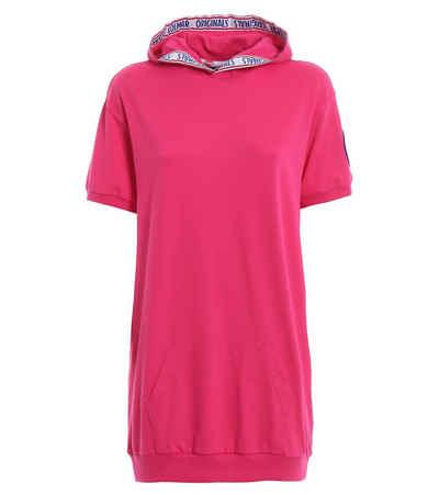 Colmar Sommerkleid »COLMAR Shirt-Kleid sportliches Damen Jersey-Kleid mit Kapuze Mini-Kleid Pink«