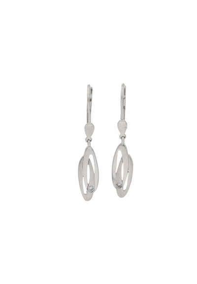 JuwelmaLux Paar Ohrhänger »Ohrhänger Weißgold mit Zirkonia« (2-tlg), Damen Ohrhänger Weißgold 333/000, inkl. Schmuckschachtel
