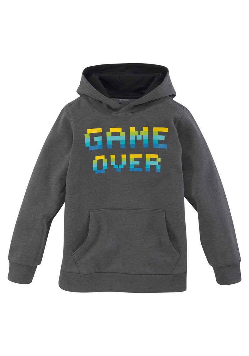 KIDSWORLD Kapuzensweatshirt »GAME OVER«