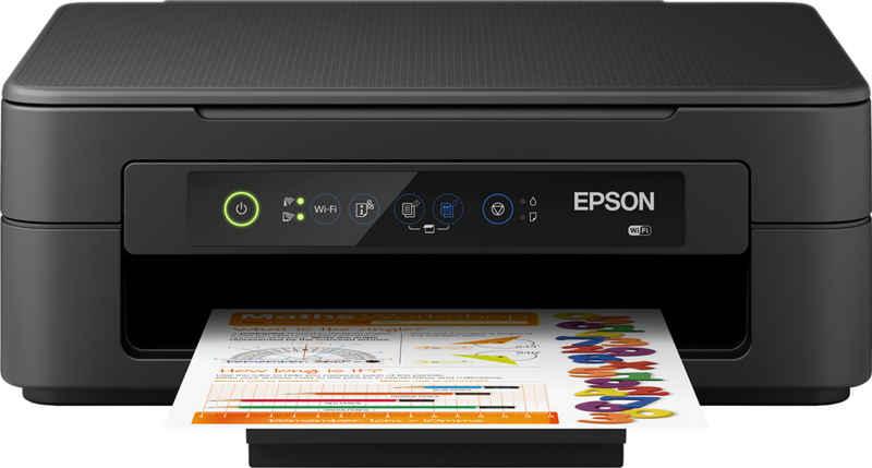 Epson XP-2105 Multifunktionsdrucker, (WLAN (Wi-Fi), Epson Connect (iPrint, Email Print, Remote Print Driver), Randlosdruck, 3in1, Mobiles Drucken, Kompakt)