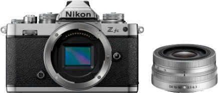 Nikon »Kit Z fc + 16–50 VR (Silver Edition)« Systemkamera (NIKKOR Z DX 16–50 mm 1:3,5–6,3 VR Silver Edition, 20,9 MP, Bluetooth, WLAN (WiFi)