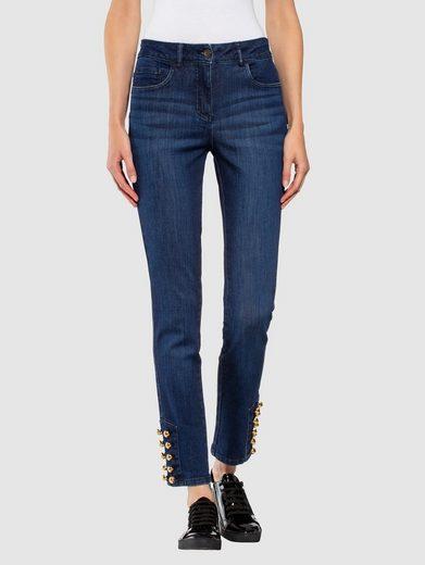 Alba Moda Jeans mit effektvoller Verzierung am Saumabschluss