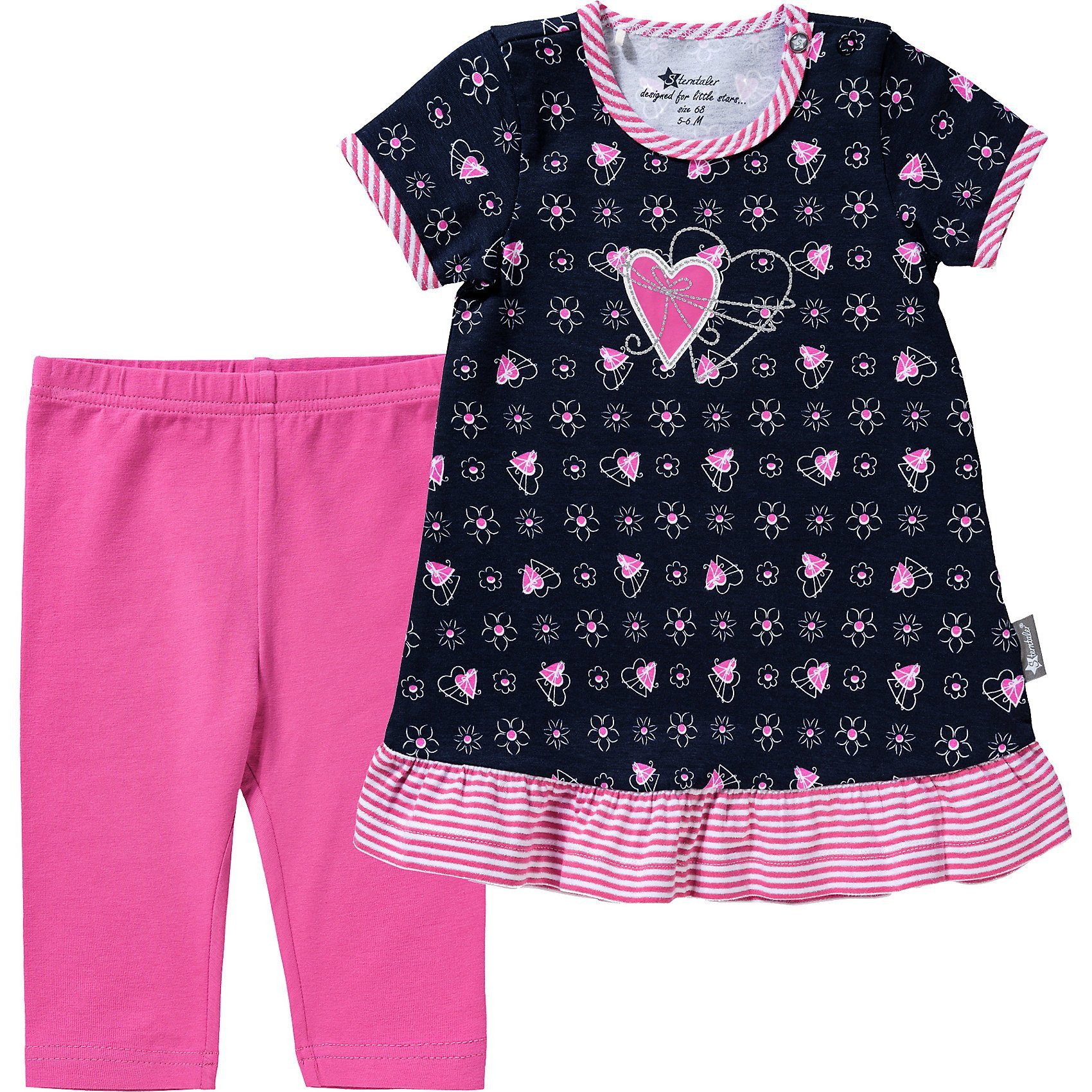 Sterntaler Baby Girls Leggins Dp Sterne//Ringel Leggings