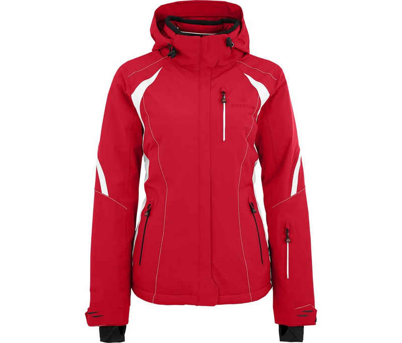 Bergson Skijacke »SNOWTASTIC« Damen Skijacke, wattiert, 20000mm Wassersäule, Normalgrößen, China rot