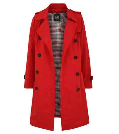 Blonde No.8 Wintermantel »BLONDE No. 8 Osaka Mantel bequeme Damen Frühlings-Jacke mit Bindeband Freizeit-Jacke Rot«
