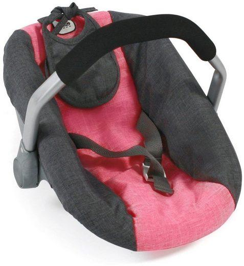 CHIC2000 Puppen Autositz »Anthrazit-Pink«