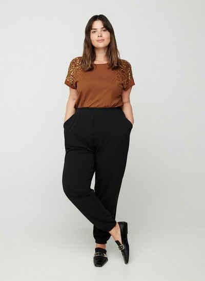 Zizzi Stoffhose Große Größen Damen Einfarbig Locker Taschen