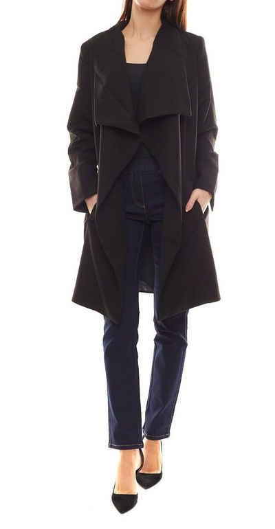 GUIDO MARIA KRETSCHMER Wintermantel »GUIDO MARIA KRETSCHMER Jacke stylischer Damen Mantel mit Schalkragen Trend-Jacke Schwarz«