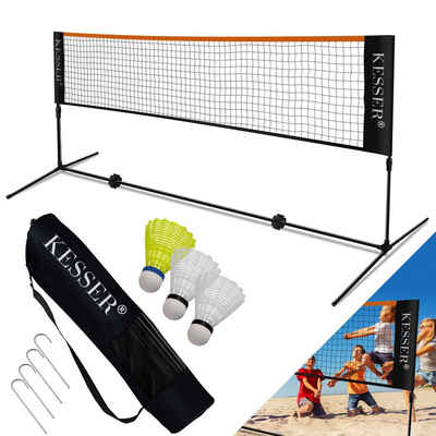 KESSER Badmintonnetz, Sportnetz Beachball, Volleyball, Beach Soccer, Indoor & Outdoor, harte und weiche Böden, Urlaub, Campingplatz, Hinterhofspielgerät