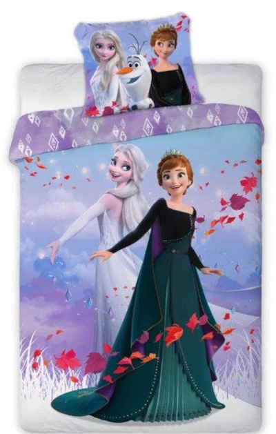 Kinderbettwäsche »Die Eiskönigin Anna Elsa - Kinder Bettwäsche Set 140x200 cm Deckenbezug Frozen 742«, Disney Frozen