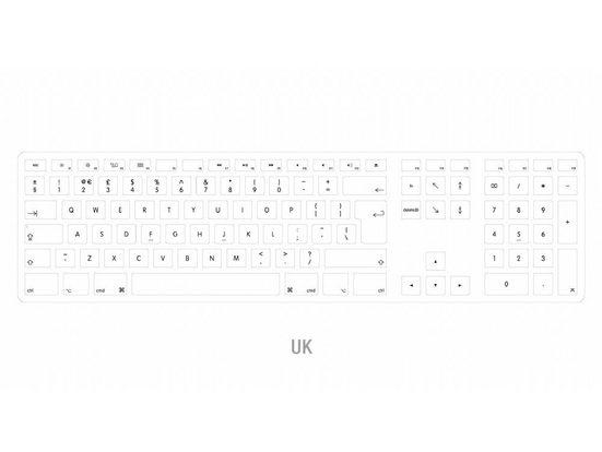 matias Apple-Tastatur (Matias Aluminum, Erweiterte USB Tastatur keyboard mit UK-Layout für Mac OS MacBooks)