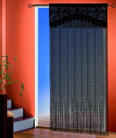 Fadenvorhang »Adele«, WILLKOMMEN ZUHAUSE by ALBANI GROUP, Stangendurchzug (1 Stück), Fadenvorhang mit Bordüre