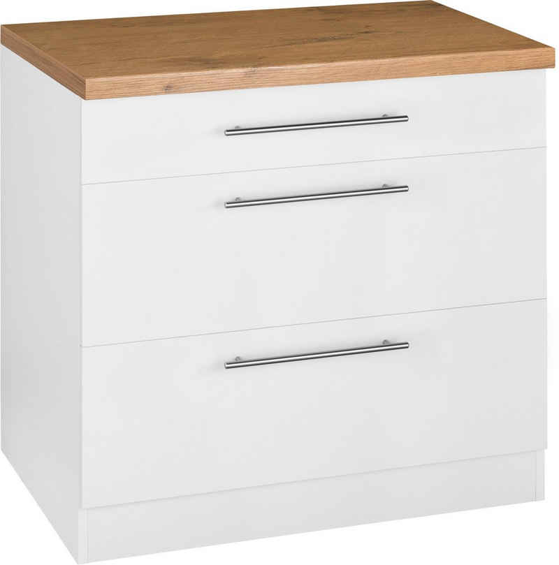 wiho Küchen Unterschrank »Unna« 90 cm breit, mit 2 großen Auszügen