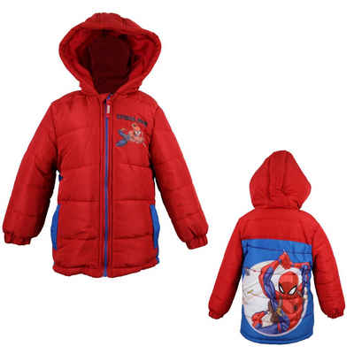 MARVEL Winterjacke »Spiderman Kinder Jacke« in Rot, Gr. 98 bis 128