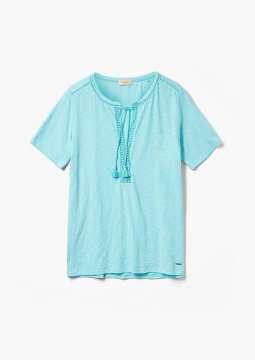 TRIANGLE Kurzarmshirt »T-Shirt mit Tunika-Ausschnitt« (1-tlg) Spitze