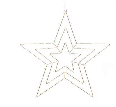 KONSTSMIDE LED Stern, Micro LED Silberstern, Silber