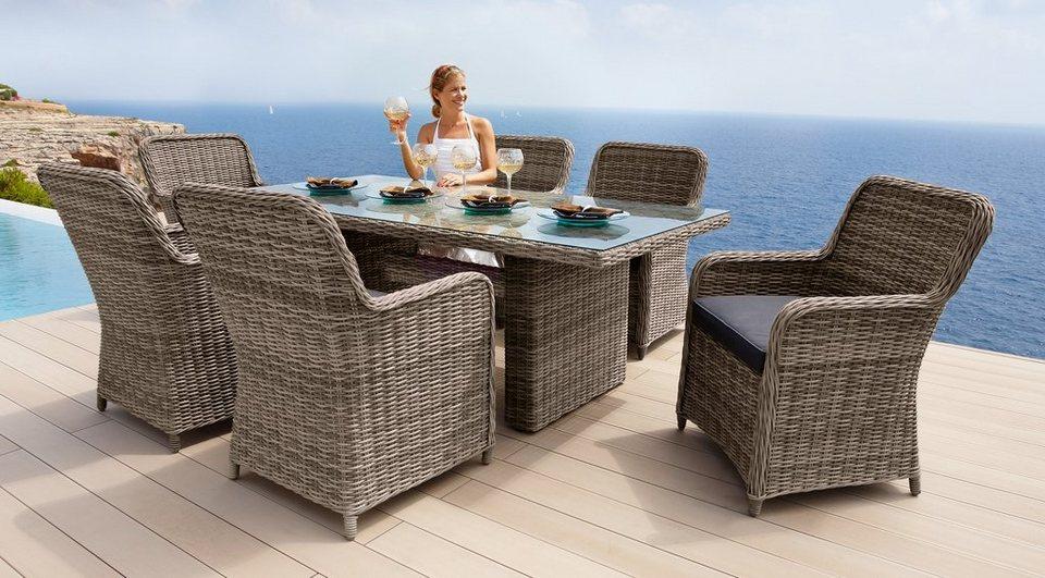 Gartenmobelset Korsika 13 Tlg 6 Sessel Tisch 200x100 Cm