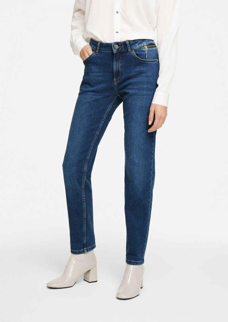 Comma 5-Pocket-Jeans »Stretchjeans mit Waschung« Waschung, Reißverschluss