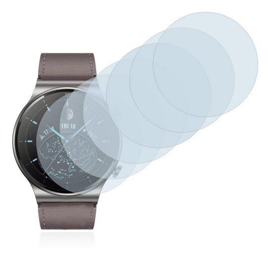 Savvies Schutzfolie »für Huawei Watch GT 2 Pro«, (6 Stück), Folie Schutzfolie klar