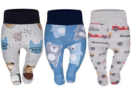 Divita-Mode Schlupfhose »Baby Strampelhose Mädchen Jungs Hose mit Füßen« (3-tlg)