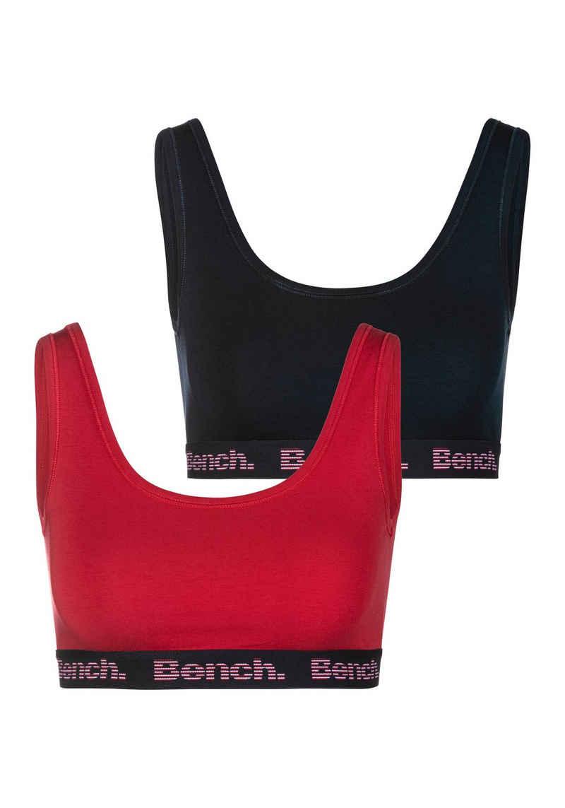 Bench. Bustier (Packung, 2 Stück) mit Logo-Webbündchen