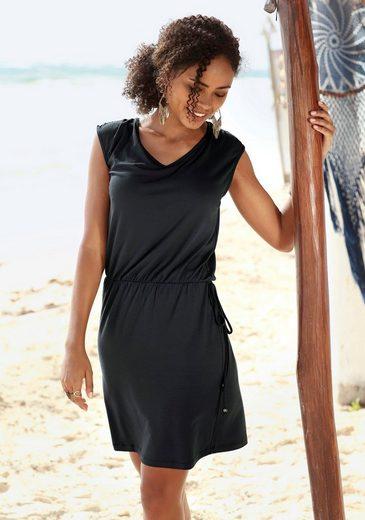 LASCANA Jerseykleid mit Zierband am Rücken