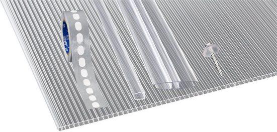 GUTTA Set: Doppelstegplatte »GUTTGLISS«, 5 Stück Hohlkammerplatte 10 mm, BxL: 98x200 cm