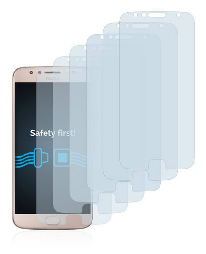 Savvies Schutzfolie »für Motorola Moto G5S Plus«, (6 Stück), Folie Schutzfolie klar