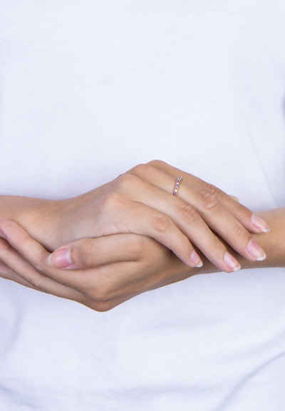 Joanli Nor Silberring »EZRANOR Ring mit farbigen Zirkonia«