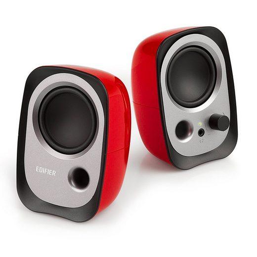 Edifier® R12U RD USB Lautsprecherset Stereo Lautsprechersystem