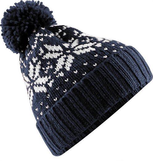 Neverless Bommelmütze »Strickmütze Damen Norweger Mütze Wintermütze Bommelmütze Rippstrick Neverless®«