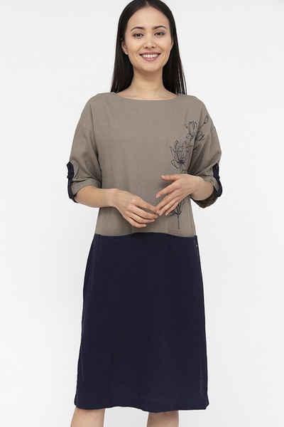Finn Flare Jerseykleid in zweifarbigem Design