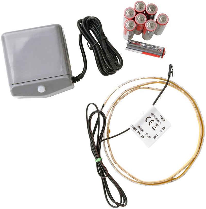 FACKELMANN Lichtleiste »Contura Light«, Bewegungsmelder inkl. Batterien, Netzteil optional möglich (nicht im Lieferumfang)