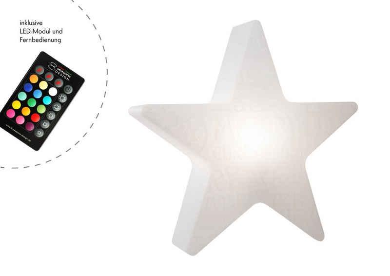 """8 seasons design Gartenleuchte »Shining Star """"Merry Christmas""""«, 60 cm weiß für In- und Outdoor"""