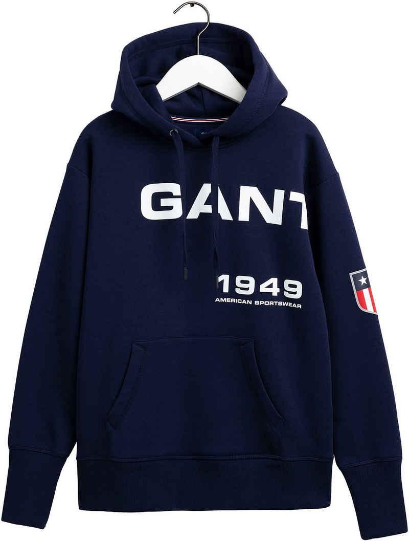 Gant Kapuzensweatshirt mit tollem Retro-Shield Logo-Print
