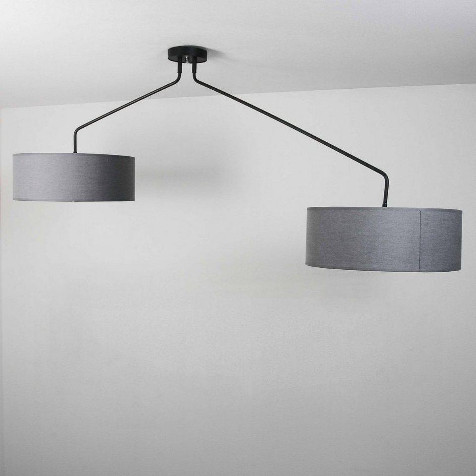 Licht Erlebnisse Deckenleuchte Hawk Deckenleuchte Stoffschirm Grau Schwenkbar Xxl Wohnzimmer Schlafzimmer Lampe Online Kaufen Otto